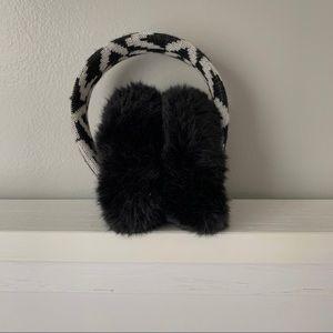 Michael Kors Black & White Ear Muffs